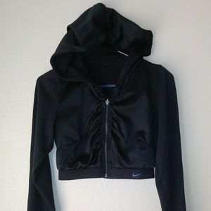 Nike cropped hooded zip up jacket